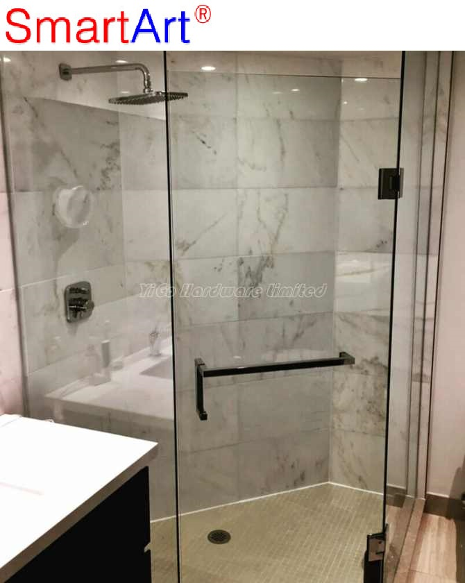 small steam sliding glistening glass shower / raindrop glass shower door