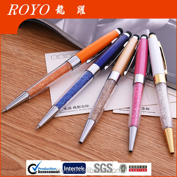 2016 promotional crystal stylus touch pen factory in china
