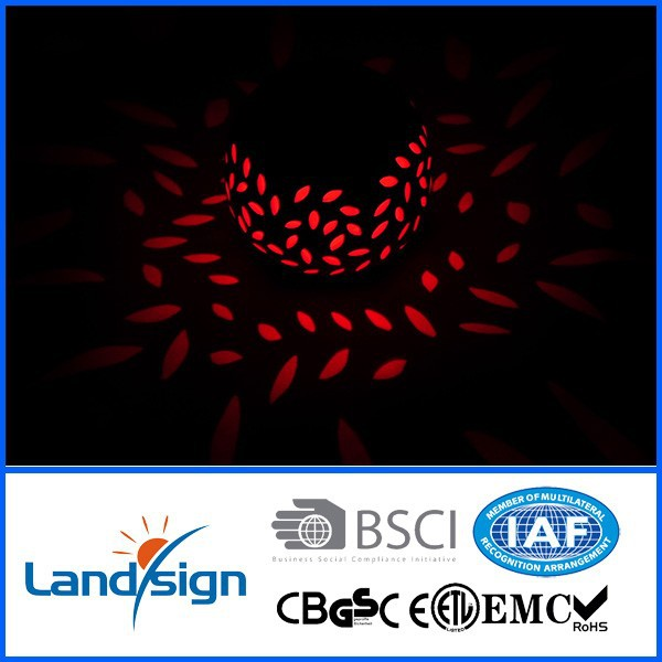 Cixi landsign color changing solar glass mosaic light