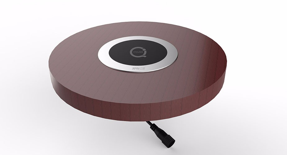 Wireless charging pad for Cafe Restaurant Dining Hall Embedded Furniture Qi Wireless Charger table furniture J03