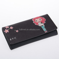 New Arrival Brand Lady Wallet/Colorful and Fashion multifunction PU Leather Cute Girl with Cat Printed Women Wallet