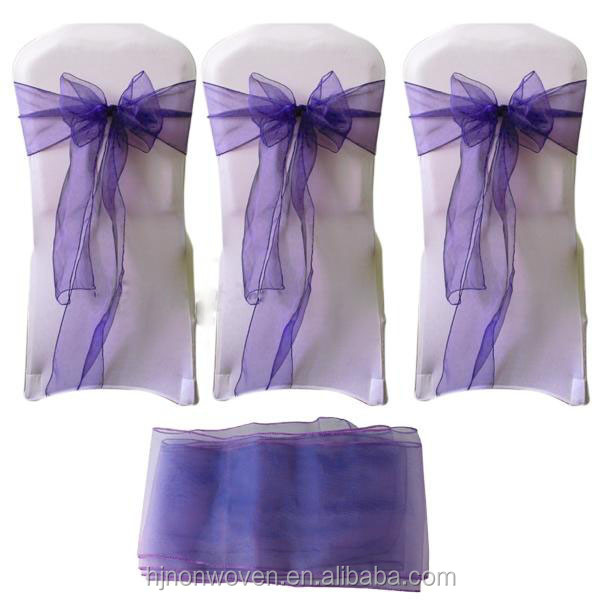 Sheer Organza wedding chair sash