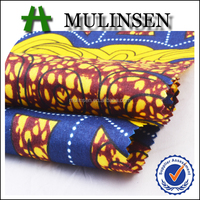 Shaoxing Mulinsen polyester pongee imitation wax print african fabric wholesale