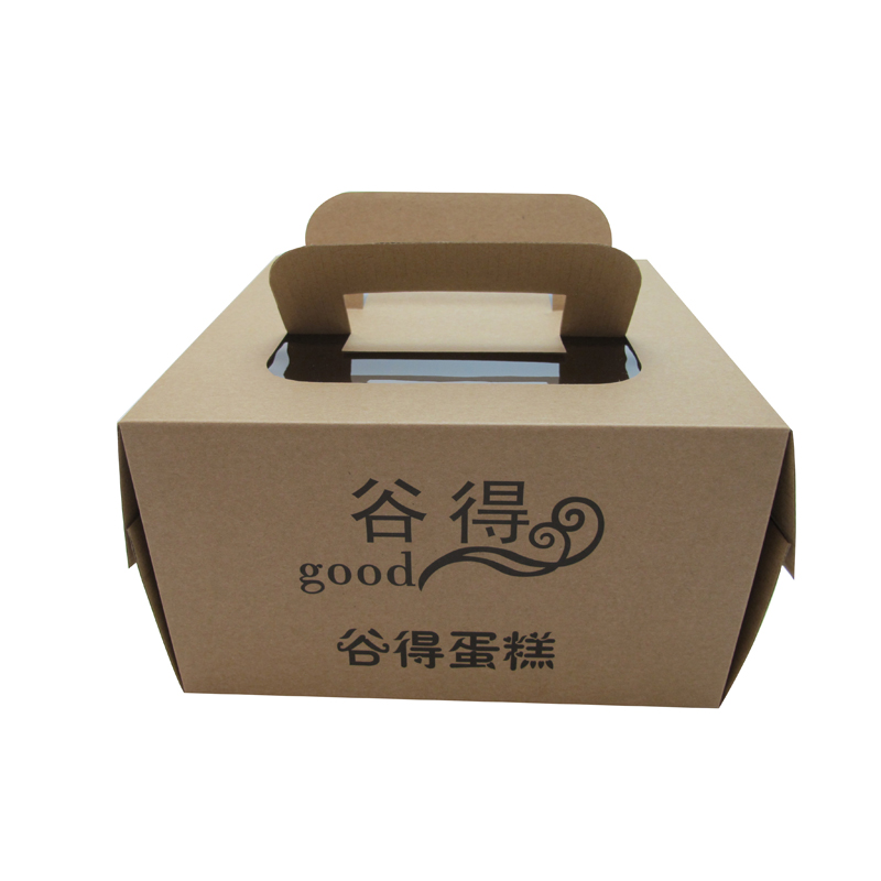 China supplier custom kraft paper cake box with handle wholesale