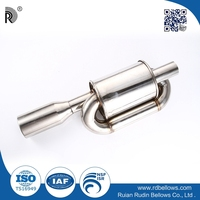 Sell well universal car high strength stainless steel muffler for decreasing engine noise