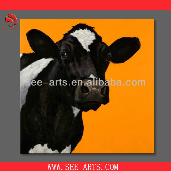 handmade cow canvas oil painting