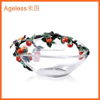 Clear glass plate glass dishware glass tableware