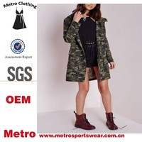 Wholesale Polyester Women Wordwile Long Camo Parka Jackets