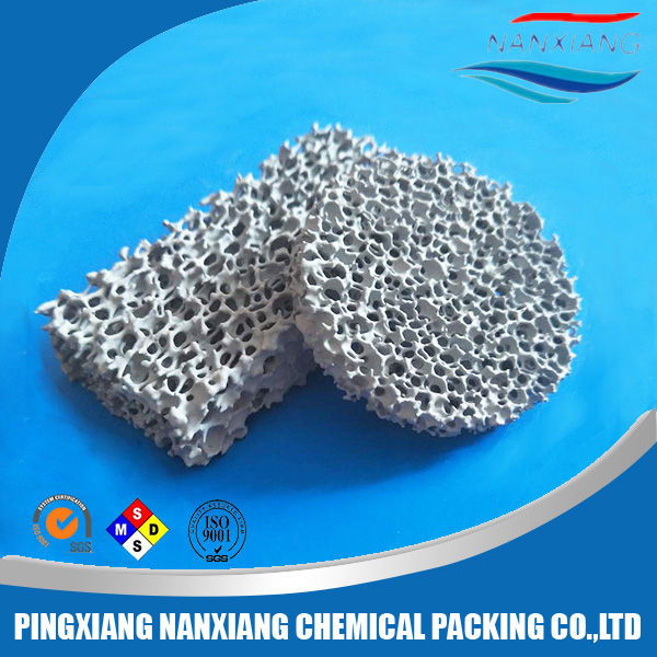 Large surface Silicon Carbide Ceramic Foam filter for casting industry