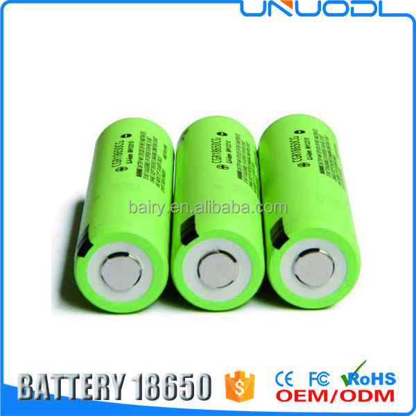 High quality 18650 li-ion battery CGR18650 CG 2250mAh