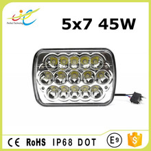 45w 7inch 5x7 high low beam led motorcycle vehicles head lamp DOT approved