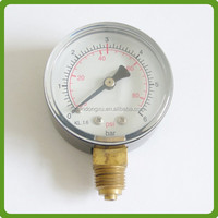 black steel bourdon tube pressure gauge for high pressure