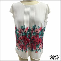 Special Design Special Print Long Sleeve Blouse