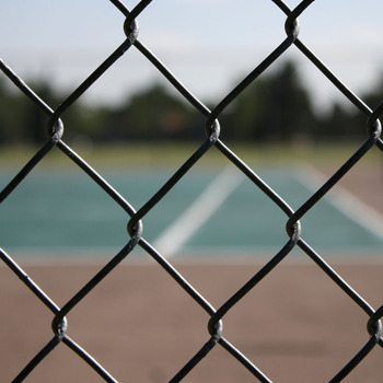 manual operated chain link fence