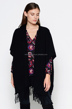 winter use warm cashmere ponchos for women
