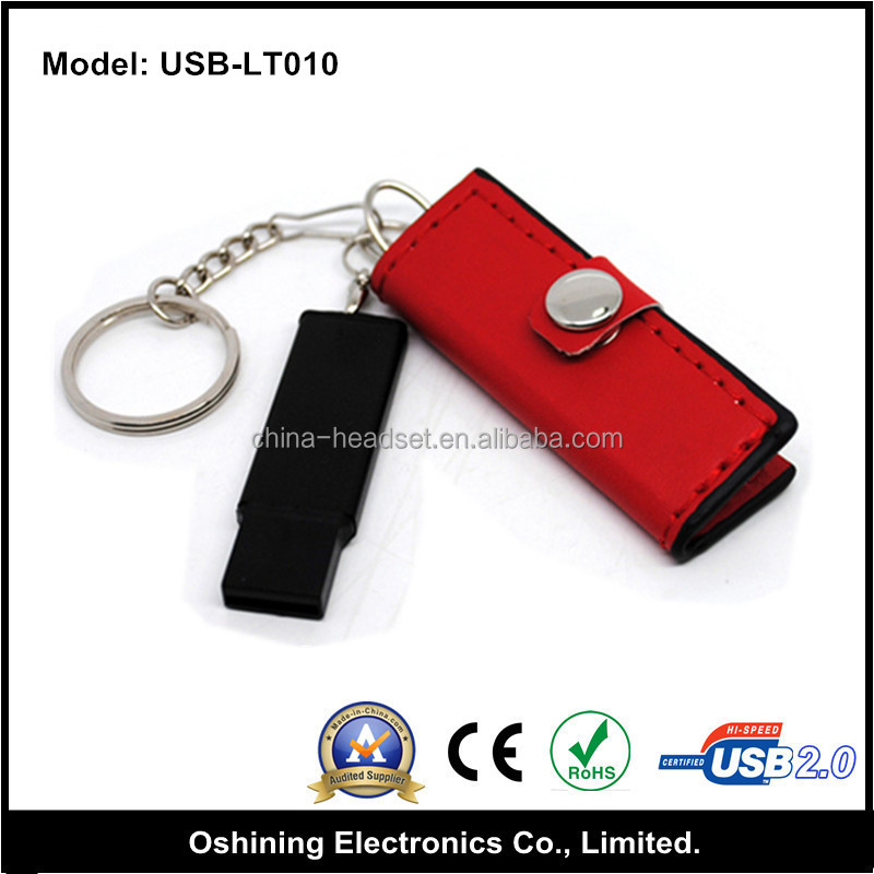 Special design lady wallet leather usb flash drive