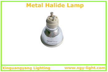 35W GU10/5000K Metal halide lamp CE without exhaust hole (3000K/4000K/5000K)