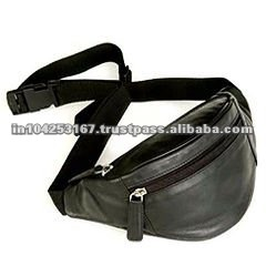 black mobile phone pocket fanny pack