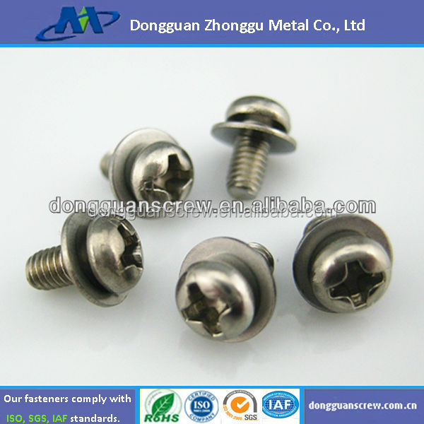 Stainless Steel Philips Pan Head Flat Washer SEMS Machine Screw