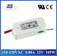 105W 0.88A 12V AC to AC Electronic Transformer Power Supply for down light with ul cul