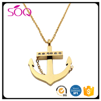 Hot Selling Uniquely Designed Stainless Steel Gold Pendant for Characters