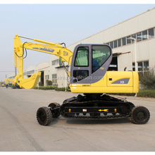 amphibious vehicles for sale ,X8 wheel excavator, crawler excavator 8ton