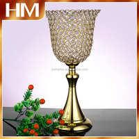 Hurricane Crystal centerpiece flower floral stand ,wedding or home table decoration