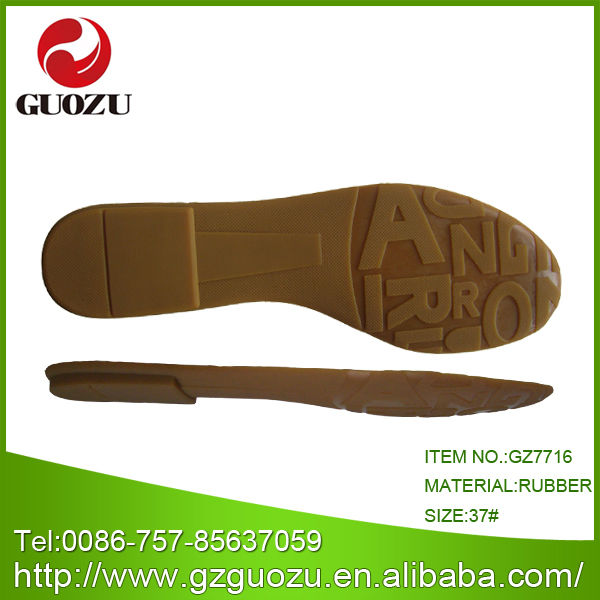 Comfort rubber sole for sandals making