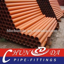 ST52 Concrete pump boom pipe (DN125, T4.5mm, L=3000mm)