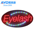 led acrylic sign,led open sign,led eyebrow threading display sign