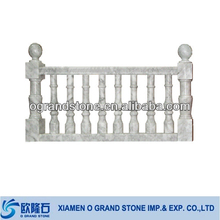 white interior indoor marble balusters stair handrail