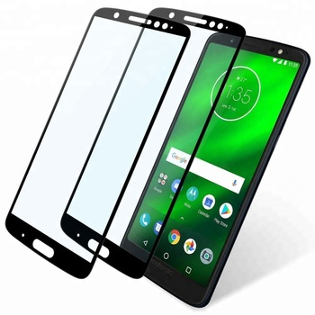 for Moto G6 Plus Screen Protector Full Coverage Black Tempered Glass Screen Protector for Moto G6 Plus G6