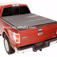 "KV8802 2014-2016 GMC sierra 5.5""ft bed crew cab Hard tri folding tonneau cover truck bed locking pickup truck covers"