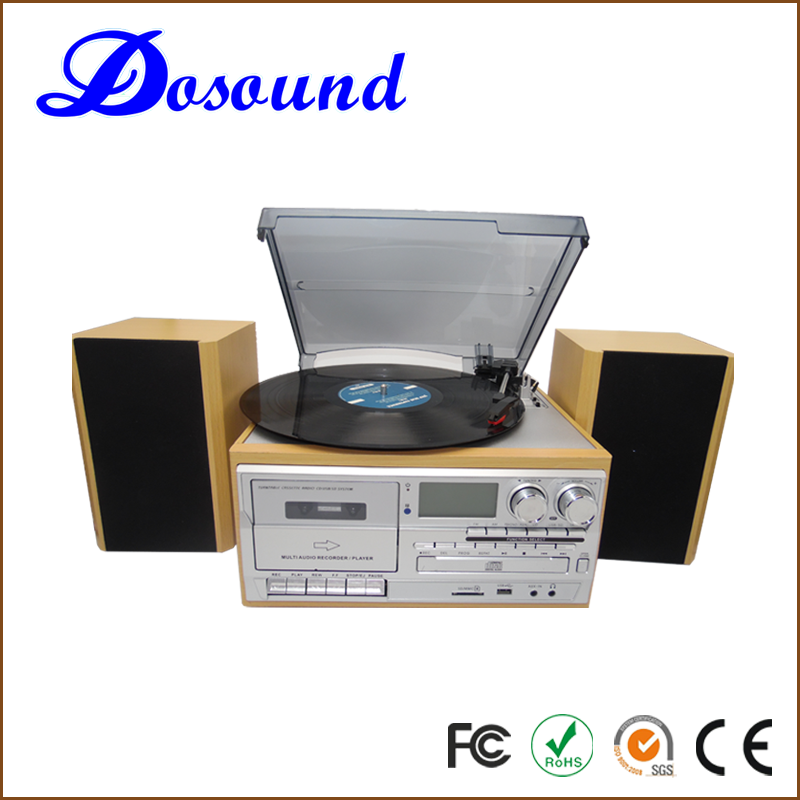 Automatic antique Gramophone USB Tape Player with Nostalgia 7 In 1 Music System for gramophone sale