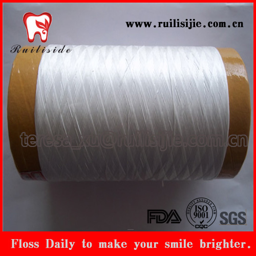 mint waxed dental floss thread,dental floss string nylon66/polyester/ptfe floss material yarn