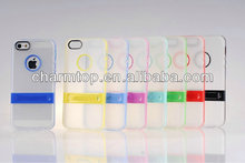 Clear Hard Kickstand Case For Apple iPhone 5 5S