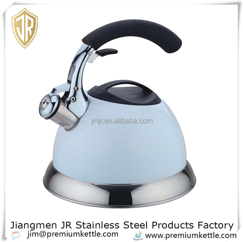 Unique designed whistling kettle stainless steel tea kettle induction kettle with 3.0L JR2066