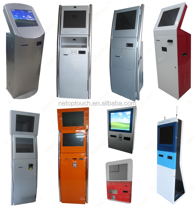 Bill acceptor for touch screen payment kiosk