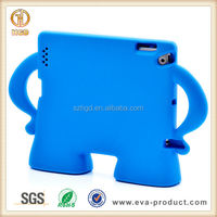 Fashion design kid proof silicone rubber tablet case for ipad 2 3 4