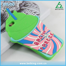 Glitter Green 3D Drink Cup Design Soft Silicone Case For Iphone 5 6