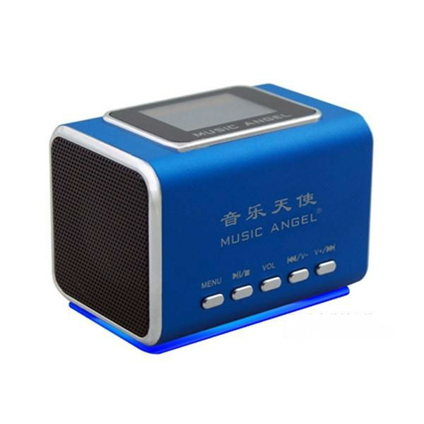 Music Angel Mini Speaker Portable Digital Speaker Support USB-disk/Micro SD/TF/FM Radio With LCD Screen JH-MD05X