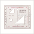 Military triangle scale protractor,military square ruler,terrain ruler,1.2mm thickness#KMP-4