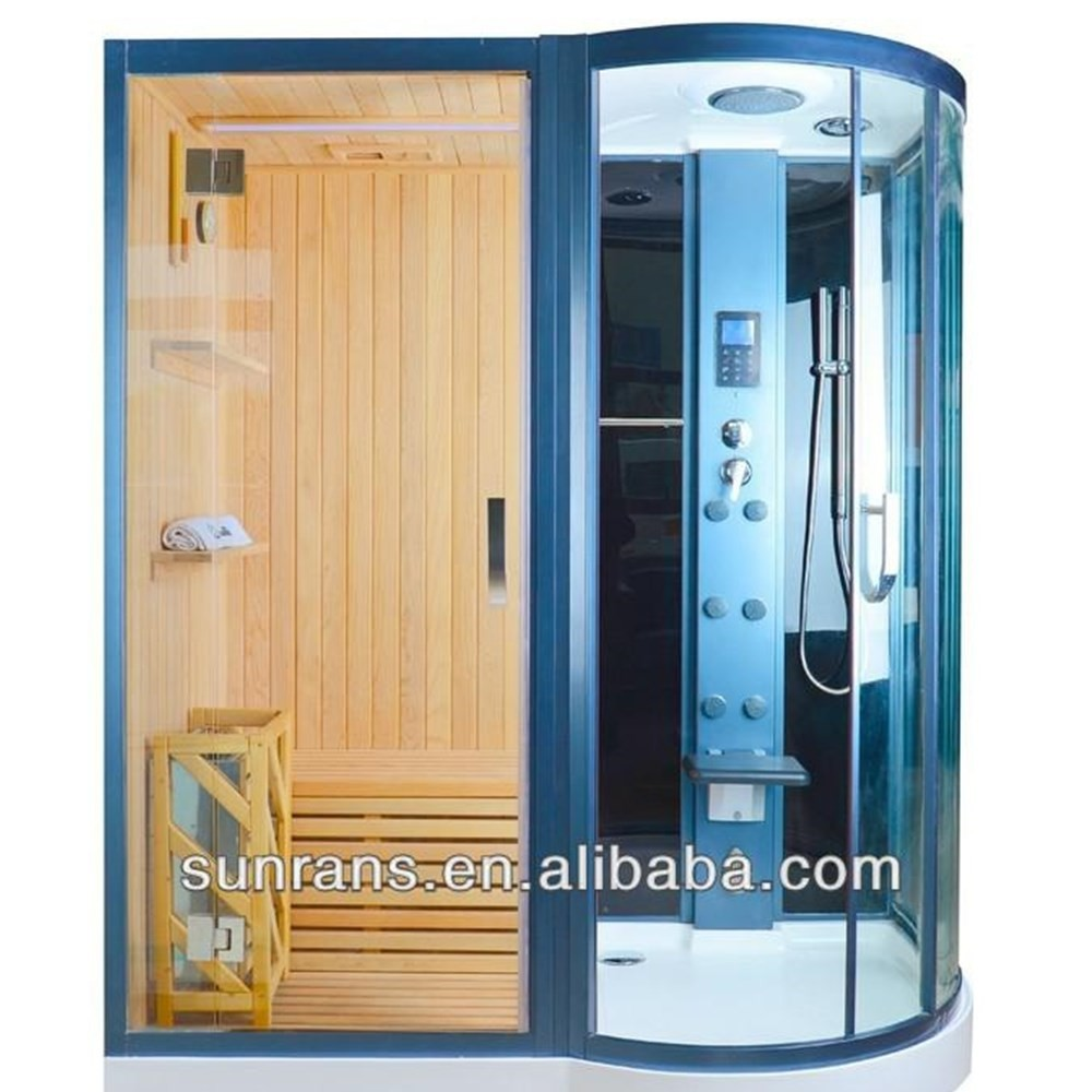Factory directly sale Sauna Rooms Type and solid Wood Main Material steam shower room with sauna