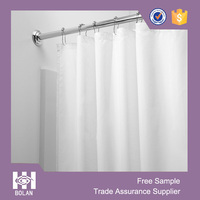 Hotel use POLYESTER SHOWER CURTAIN LINER,white shower curtain,water repellence shower curtain