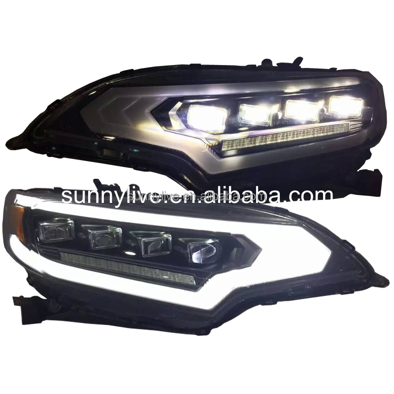 For HONDA for Fit Jazz Head Lamp 2015 year Black Housing