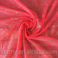 100% polyester STAR PLUM DESIGN jacquard mesh fabric for net products