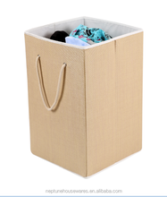 Foldable laundry basket with rope handle Square laundry hamper