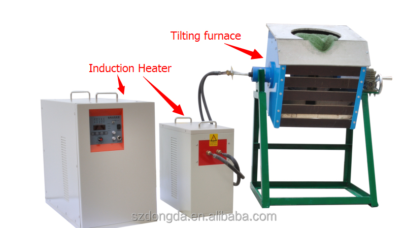 factory price new design cast metal scrap Furnace For Smelting Nonferrous metal 1kg
