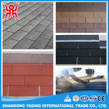 12 colors double style fiberglass asphalt roofing shingles/ building materials for construction
