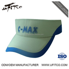 China factory high quality OEM 100% polyester mesh women nice design tennis sport sun visors